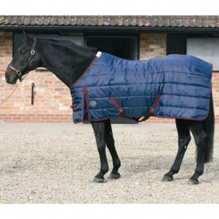 Jumpers Horse Line Stable 100g Standard Neck Navy & Burgundy